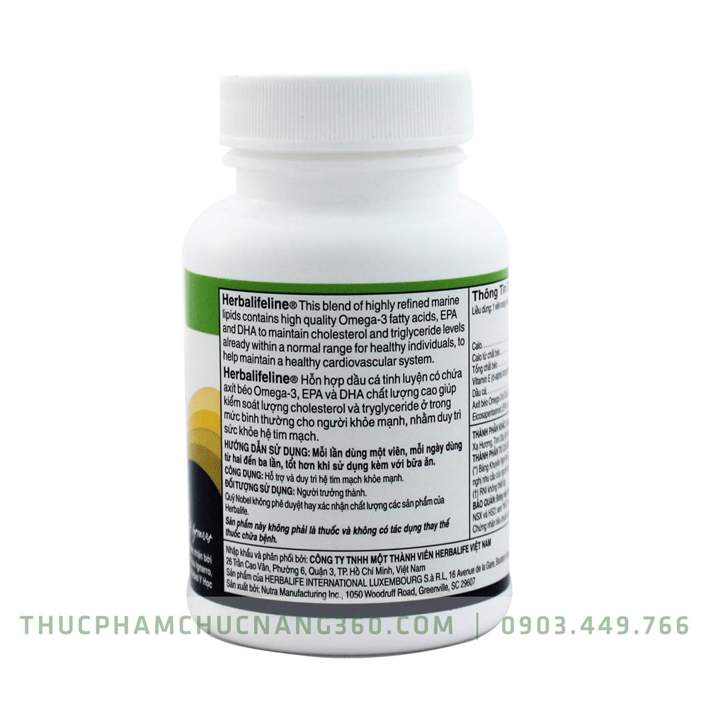 herbalifeline chính hiệu nhãn phụ sản phẩm omega 3 herbalife