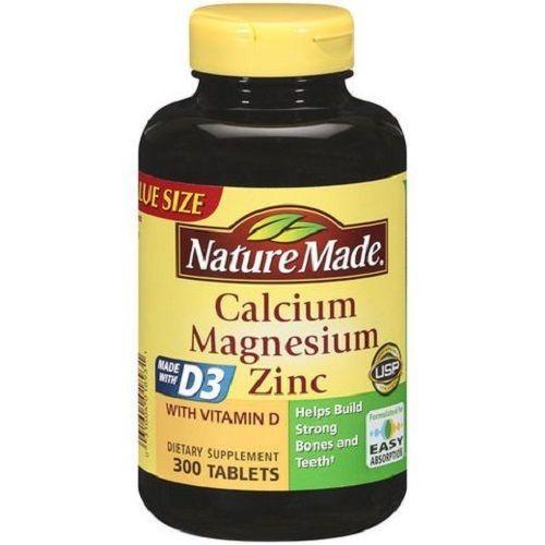 Nature Made Calcium Magnesium ZinC Bổ sung Canxi, Magie, Kẽm