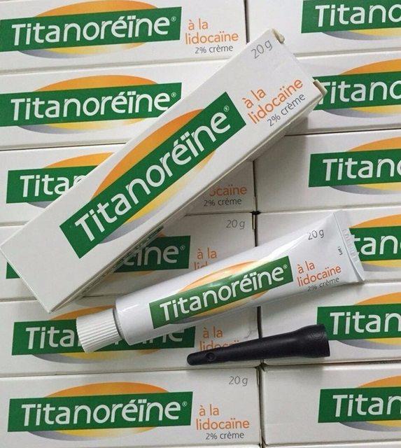 Kem Bôi hỗ trợ cải thiện trĩ ngoại Titanoreine 20g Chính Hãng Của Pháp