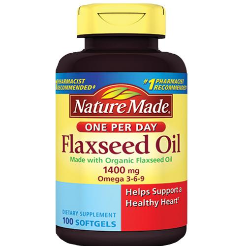 Dầu hạt Lanh Nature Made Flaxseed Oil 300 viên của Mỹ