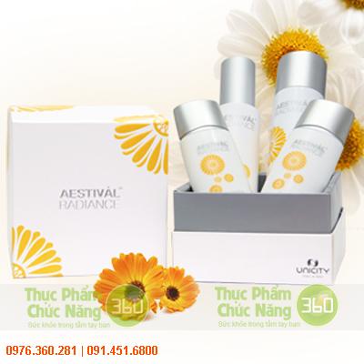 Bộ Aestival Radiance Unicity với thành phần làm đẹp và sáng da