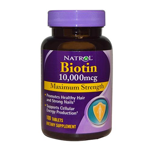 Natrol Biotin 10000 mcg thuốc mọc tóc, chống rụng tóc hiệu quả