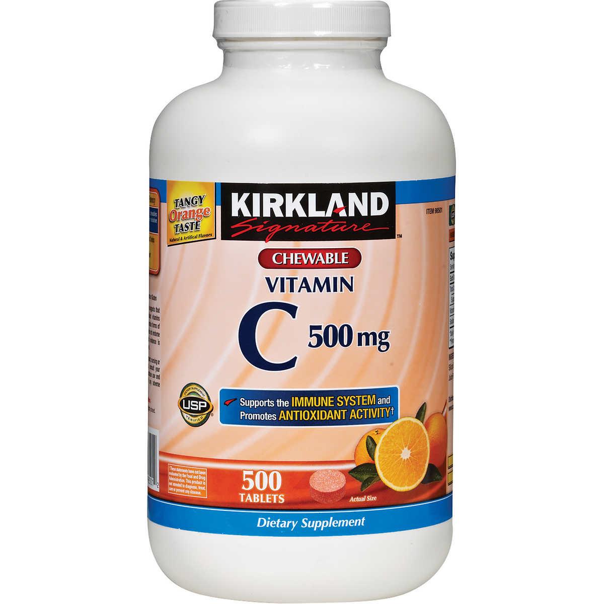 Vitamin C Kirkland 500mg - Viên uống bổ sung Vitamin C