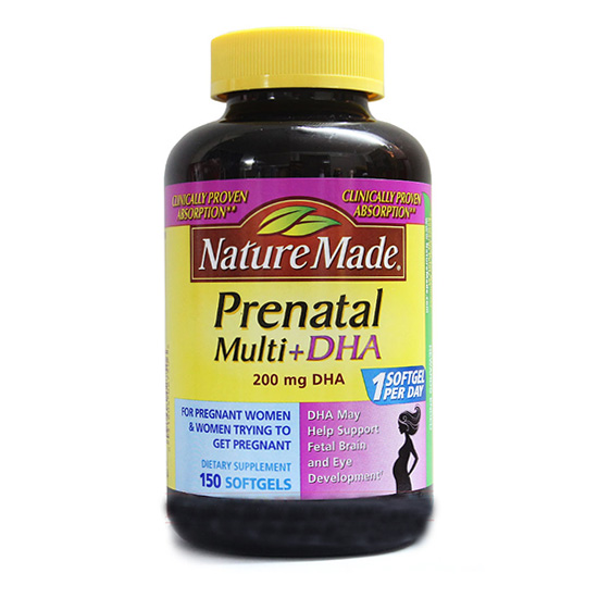 Nature Made Prenatal Multi DHA Bổ sung dinh dưỡng cho bà bầu và thai nhi