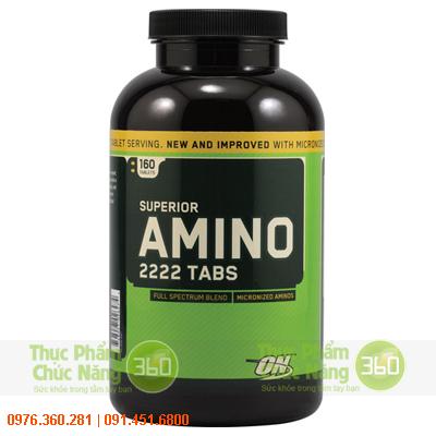 ON Superior Amino Acid 2222 Tabs 160 viên tăng trưởng cơ bắp
