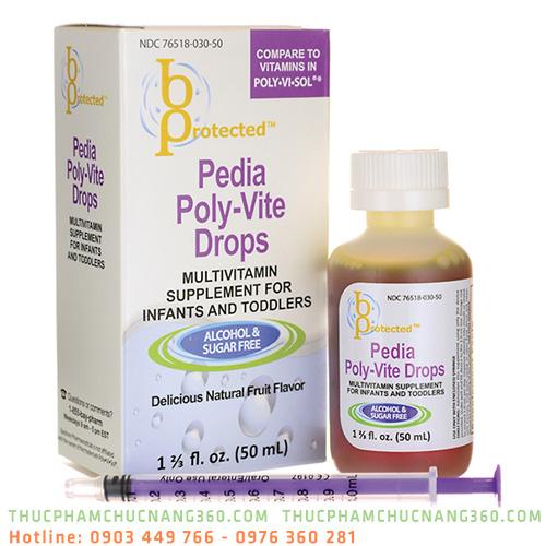 Pedia Poly Vite Drops bổ sung vitamin và khoáng chất tăng sức đề kháng