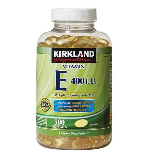 Vitamin E 400 IU Kirkland 500 viên của Mỹ - Viên uống làm đẹp da
