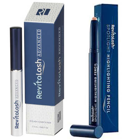 Bộ đôi sản phẩm thuốc dài mi Revitalash Advanced & Chì Kẻ Mắt Trang Điểm Highlight Revitalash Cao Cấ