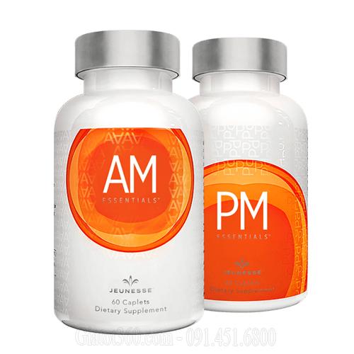 AM & PM Essentials Thực phẩm chức năng chống lão hóa ở cấp độ tế bào