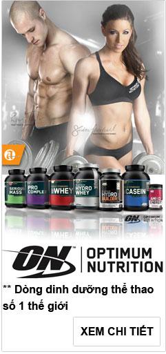 Optimum Nutrition banner dưới