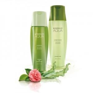 Bộ dầu gội, dầu xả Herbalife Aqua cho mái tóc bóng khỏe