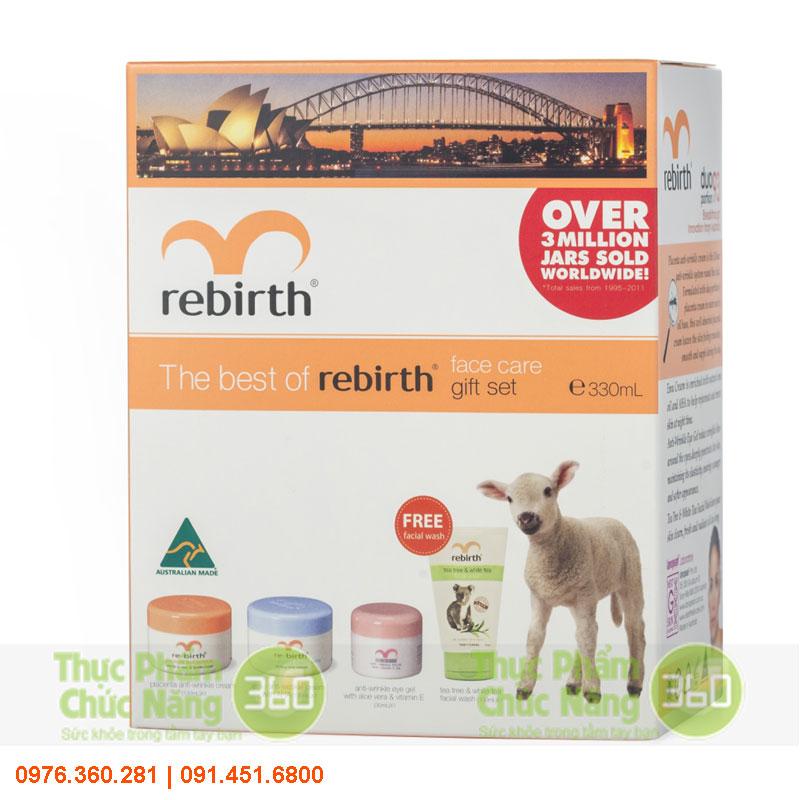 Bộ sản phẩm chăm sóc da mặt Rebirth từ Úc - Lanopearl