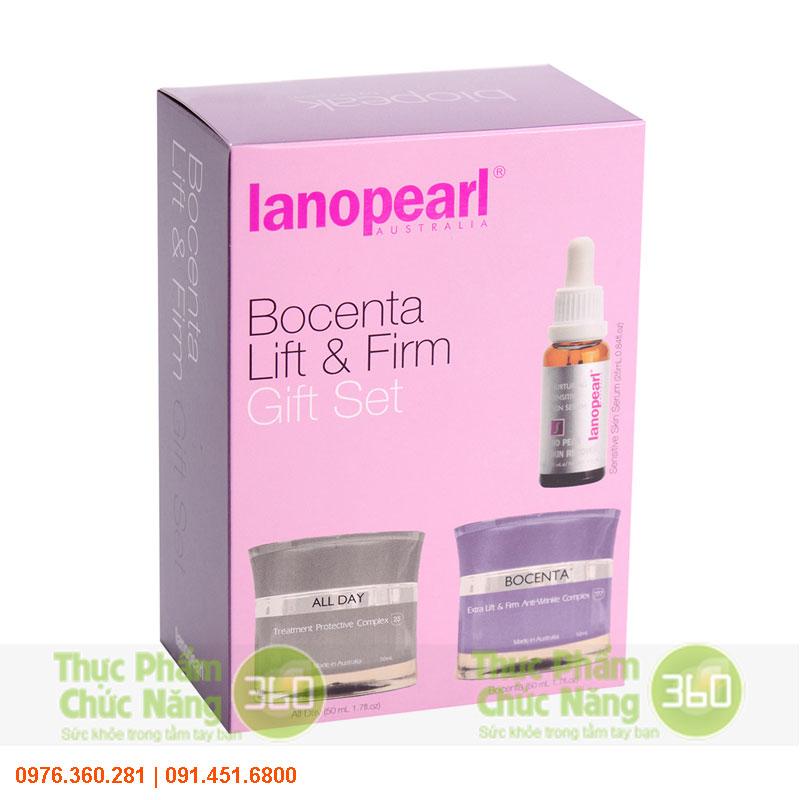 Bộ sản phẩm chống nhăn nâng cơ làm săn da - Lanopearl