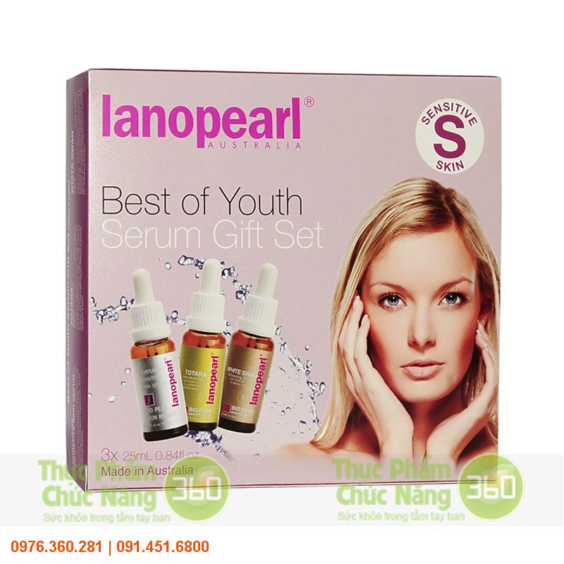Bộ sản phẩm serum cho da nhạy cảm - Lanopearl