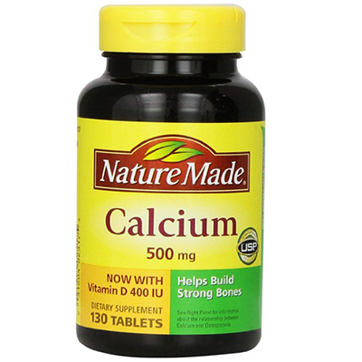 Nature Made Calcium 500 mg với Vitamin D 400 IU