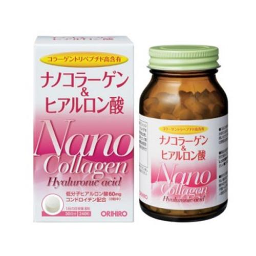 Nano Collagen & Hyaluronic Acid Orihiro 240 viên