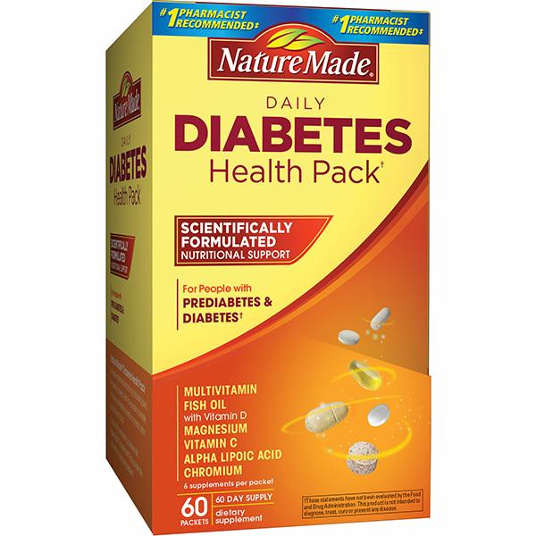 Nature Made Diabetes Health Pack dinh dưỡng cho người bị tiểu đường
