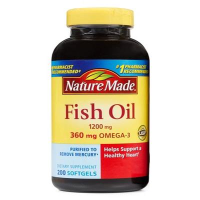 Dầu cá Nature Made Fish Oil cho trái tim khỏe và đôi mắt sáng