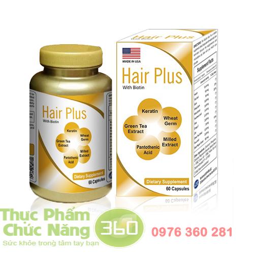 Hair Plus viên uống kích thích mọc tóc, ngăn rụng tóc hiệu quả