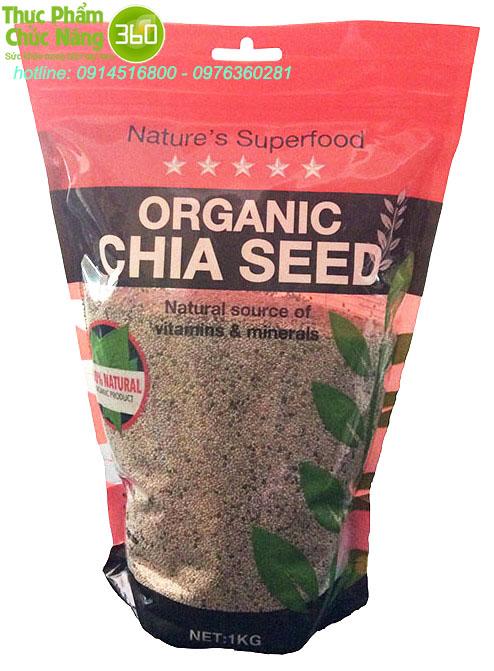 Hạt Chia Úc Organic Chia Seed Nature Superfood - dinh dưỡng bảo vệ tim mạch
