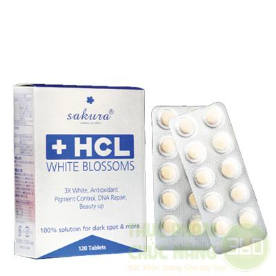 Sakura HCL White Blossoms Viên uống giảm nám, làm sáng da tự nhiên