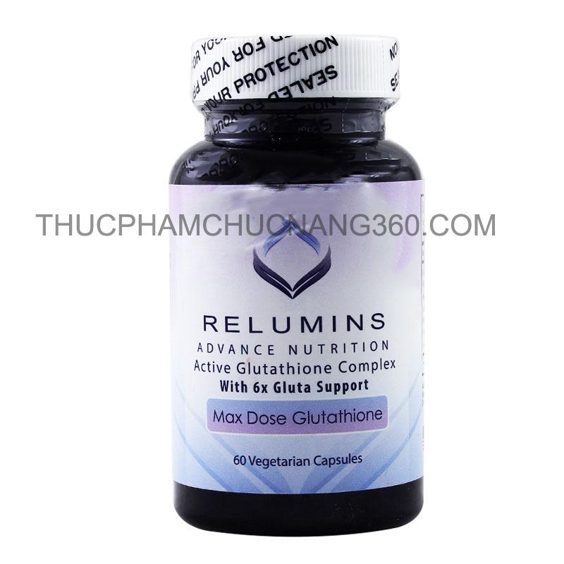 Viên uống trắng da Relumins Max Dose Glutathione Advance Nutrition Active Glutathione Complex