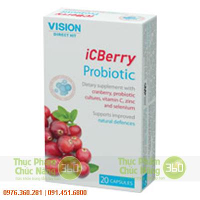 iCBerry - cải thiện sức khỏe sinh lý nữ và ngăn ngừa viêm bàng quang.