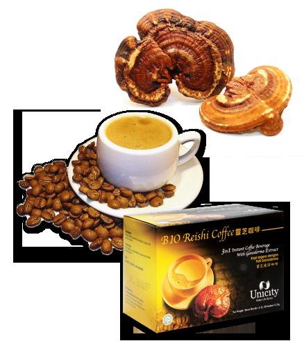 Bio Reishi Coffee Unicity Cà phê linh chi phong cách thưởng thức cà phê hiện đại.