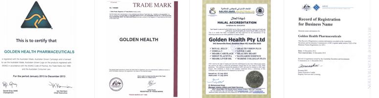 Chứng nhận đạt tiêu chuẩn và xuất khẩu từ Golden Health