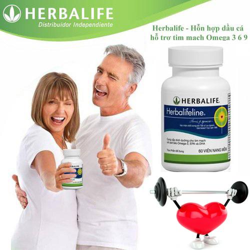 Herbalifeline - Hỗn hợp dầu cá hỗ trợ tim mạch
