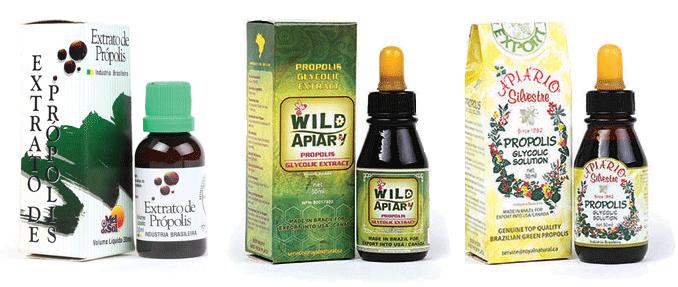 Hình ảnh các sản phẩm keo ong xanh brazil chính hãng