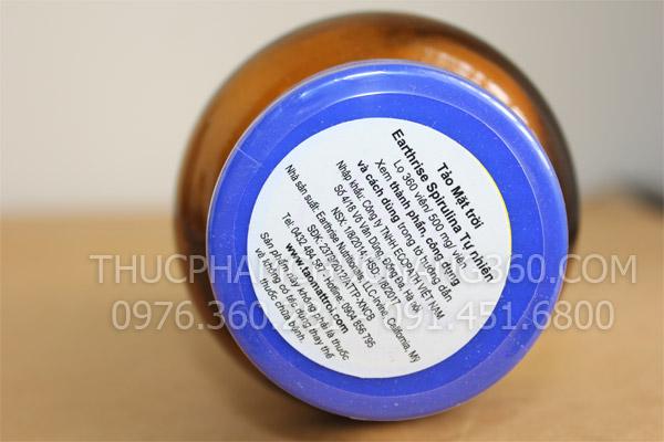 Nhãn phụ sản phẩm tảo mặt trời tự nhiên sprilina