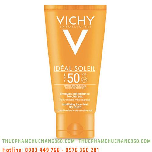 Kem chống nắng không gây nhờn rít SPF50 không màu Vichy