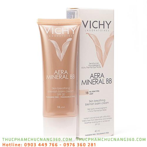 Kem lót nền che khuyết điểm và chống nắng Vichy Aera Mineral BB 40 ml