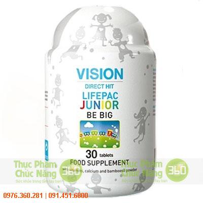 Sản phẩm Vision Be Big cung cấp canxi, vitamin D, B1 cho trẻ