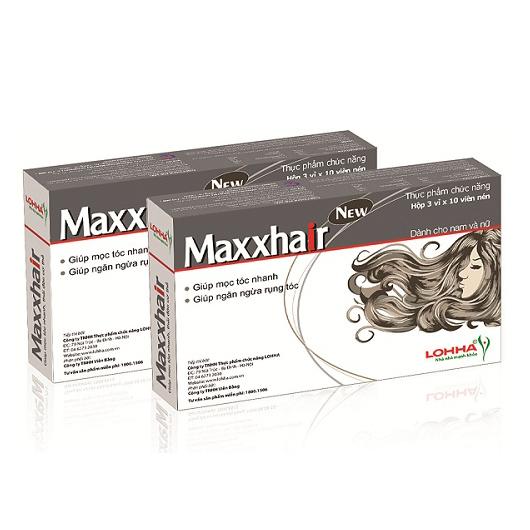 Maxxhair hỗ trợ ngăn ngừa hói đầu rụng tóc