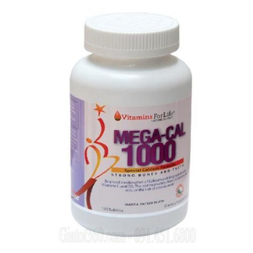 Mega-Cal 1000 Bổ sung canxi và vitamin D3 cho xương khớp chắc khỏe