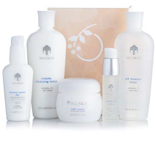 Bộ mỹ phẩm Nuskin dưỡng da Nutricentials Daily Skin Health Set dành cho da khô