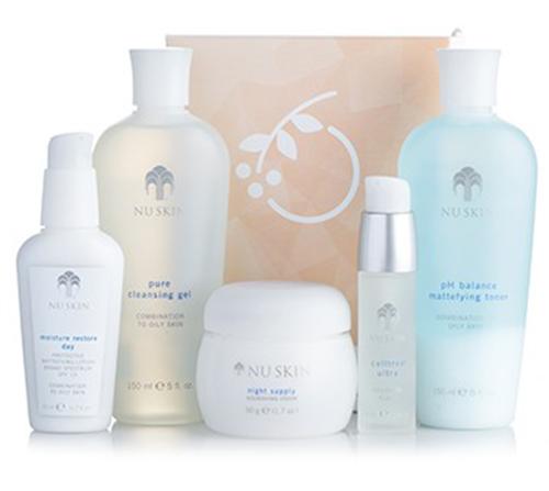 Bộ mỹ phẩm Nuskin dưỡng da Nutricentials Daily Skin Health Set dành cho da nhờn