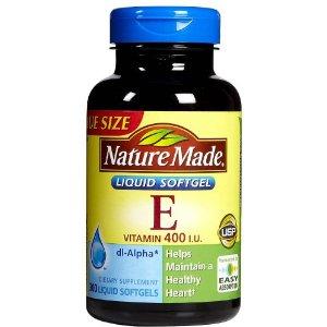 Vitamin E 400 IU Nature Made giúp làm đẹp da chống lão hóa