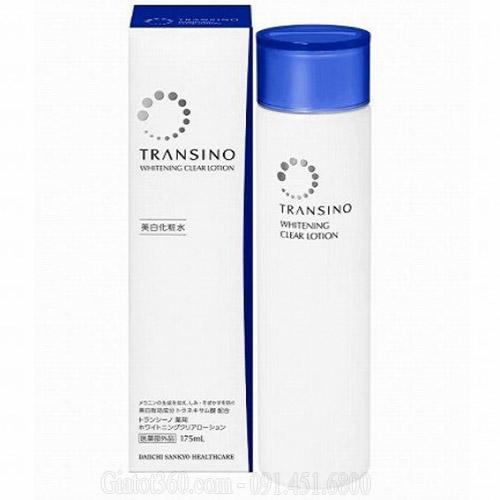 Nước hoa hồng Transino Whitening Clear Lotion dưỡng trắng, trị nám làm mềm da