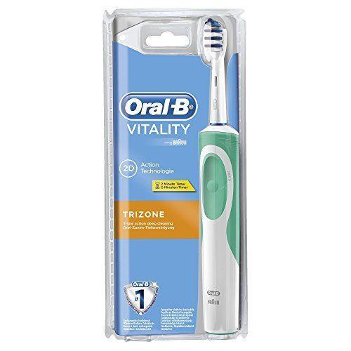 Bàn chải đánh răng điện Oral-B Trizone Trắng Xanh