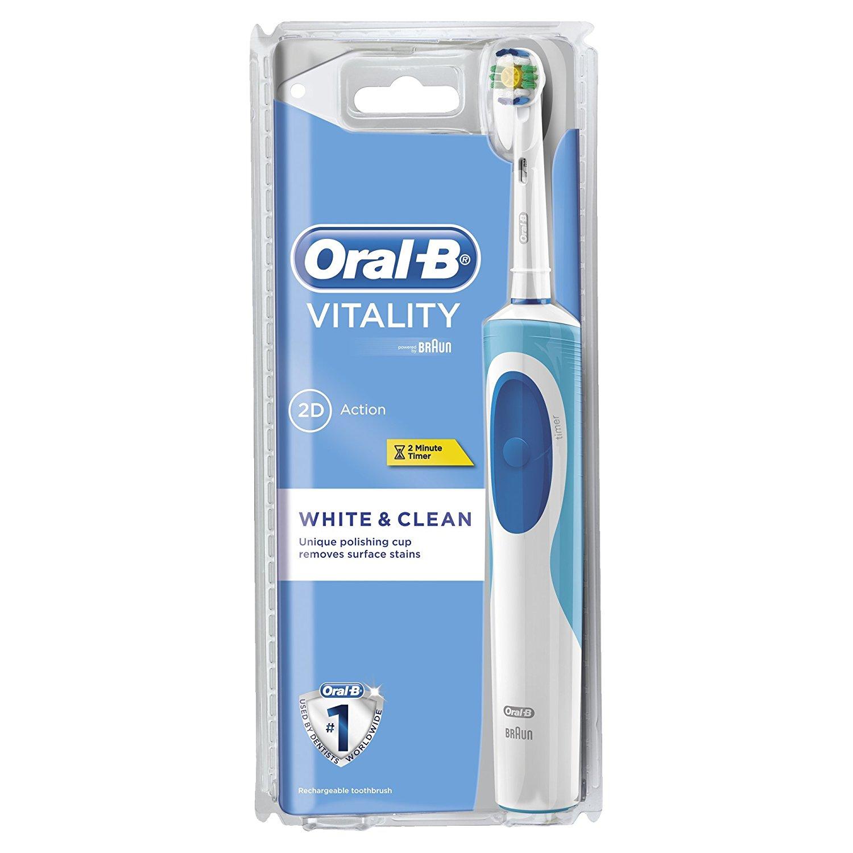 Bàn chải đánh răng điện Oral-B White Clean Trắng Xanh