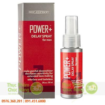 Thuốc xịt xuất tinh sớm Power Delay Spray For Men của Mỹ