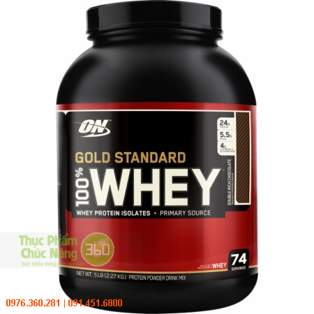 ON 100% Whey Protein Gold Standard 5Lbs (2,27kg) - Optimum Nutrition