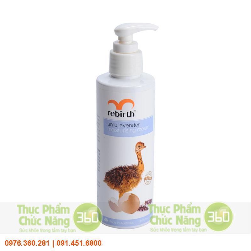 Sữa dưỡng thể làm trắng da tinh dầu đà điểu Rebirth của Úc - Lanopearl