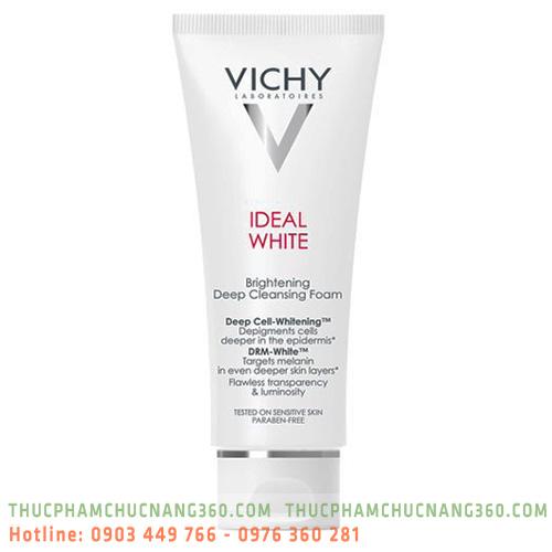 Sữa Rửa Mặt Tạo Bọt Trắng Da Vichy Ideal White Brightening Deep Cleansing Foam