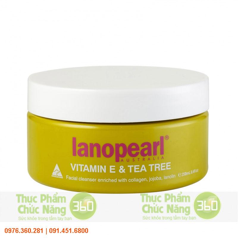 Sữa rửa mặt tinh chất trà xanh vitamin E - Lanopearl