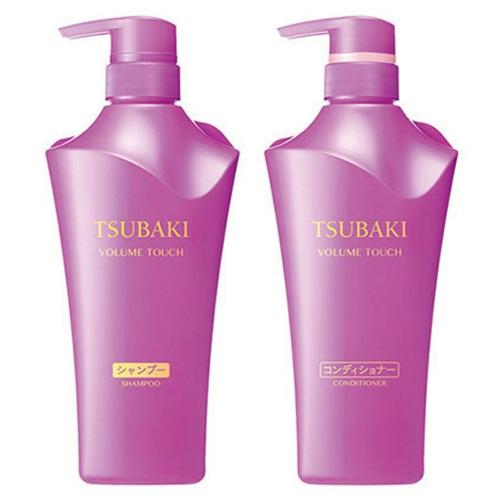 Dầu Gội và Xả Tsubaki Shiseido Volume Touch Màu Tím
