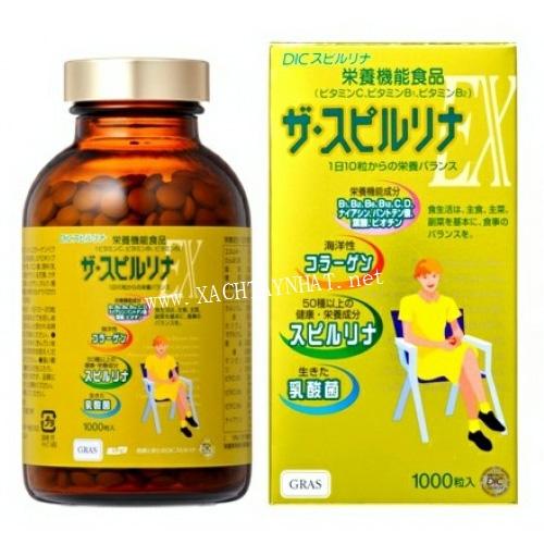 Tảo vàng Spirulina EX Nhật Bản 2000 viên
